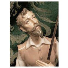 VINTAGE Lladro #5357 ORATION Kneeling Don Quixote W/Sword Glazed