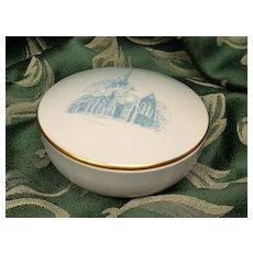 Lovely Bing and Grondahl Trinket Box Ring Dish St. Alban's Church of Copenhagen Denmark