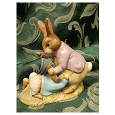Beatrix Potter's Mr. Benjamin Bunny And Peter Rabbit Warne & Co Beswick England