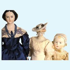 A Trio Of Early Emma Clear Dolls From 1946 47 48