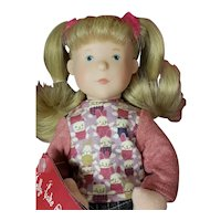 "Gotz 11"" Jelly Vinyl & Soft Bodied Girl Doll New w Box from Germany"