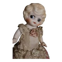 """8"""" All Bisque Betty Boop Type With Unusual Costume"""