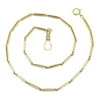Art Deco 10K Yellow Gold Watch Chain