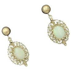 Opal 14K Yellow Gold Gemstone Pierced Earrings
