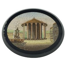 Antique Unmounted Italian Micro Mosaic Onyx Grand Tour Restoration Georgian Victorian 1600's 1700's 1800's