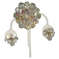 Juliana Crystal Rhinestone Pin and Earrings Set