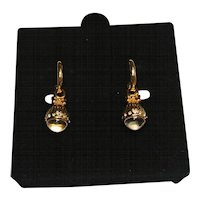 Crystal Ball Pools of Light Style Earrings Joan Rivers