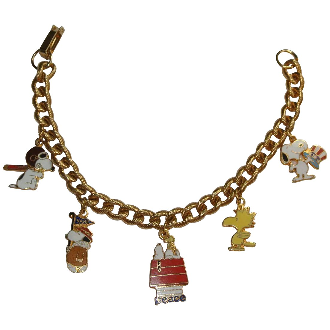 Snoopy Peanuts Gang Woodstock Charm Bracelet Click To Expand