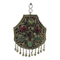 Bohemian Gemstone Handmade Artisan India Necklace