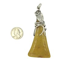 Butterscotch Egg Yolk Amber Sterling Silver Pendant