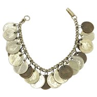 Coin Charm Bracelet, India Netherlands 1960 1961
