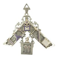 Masons Masonic Huge Pendant Fob 1902