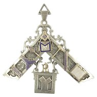 1902 Masonic Free Masons Huge Occult Pendant
