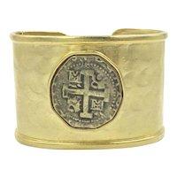Carolyne Roehm Gold Tone Large Cuff Bracelet