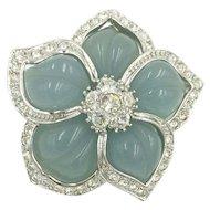 Blue Flower Pendant with Crystal Rhinestones Nolan Miller