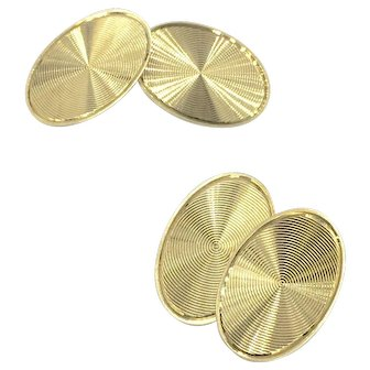 14K Art Deco Cufflinks 1920'2 - 1930's Geometric Cufflinks
