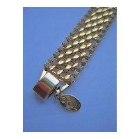 Kenneth Jay Lane KJL Vintage Designer Woven-Link Tennis Bracelet
