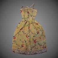 Vintage 1950s Mommy Made cotton floral Barbie dress
