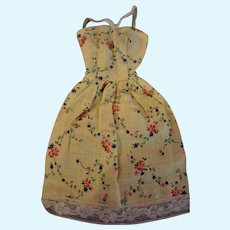 Vintage 1950s Mommy Made cotton floral Barbie dress