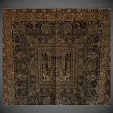 "Antique 18th century hand woven Tapestry 63""inches"