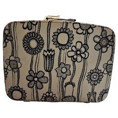 1960s SAMSONITE Suitcase Mod FASHION Marrimekka  luggage Wild Flower Gardenia