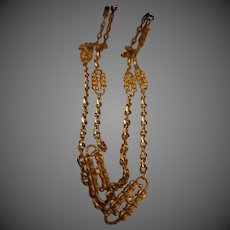 Jackie Kennedy Necklace - Set of 2 Gold Paperclip Necklaces Designed by Coco Chanel