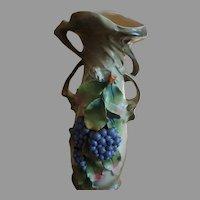 Victorian Large Antique Handmade painted porcelain Vase