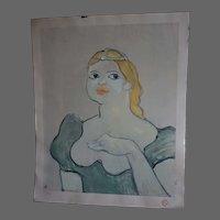Toulouse Lautrec limited Edition 371/500 Facsomille Art Print