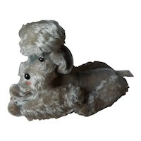 """Vintage Steiff mohair poodle DOG 10""""jointed"""