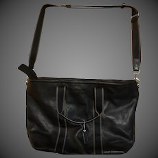 Large Authentic Black Leather COACH Tote bag Luggage