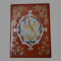 Vintage Japanese Laquer Box painted Dragon
