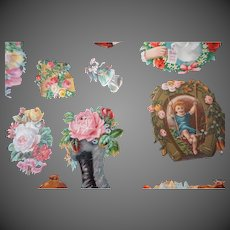 Vintage Assorted pretty Die cuts children women flowers