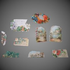 Vintage Die cuts assorted Children & Flowers portraits