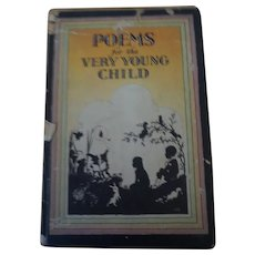 1932 Vintage school book Poems for the very young child Hardcover printed in USA.