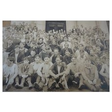 Vintage Photo RARE After the games 1925 Rugby football 11x14 original