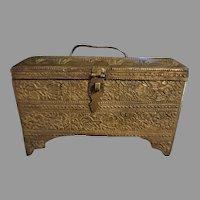 Antique Chinese Bronze Tea Caddy c.1900