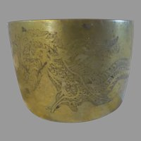 Vintage Brass Asian Dragon canister Chinese Japanese Burmese sensor