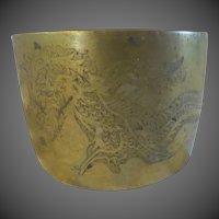Vintage Brass Asian Dragon canister Chinese Japanese Burmese sensor