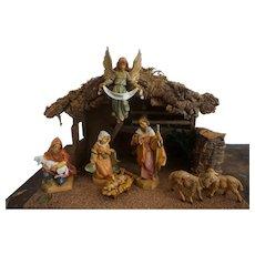 "Fontanini 5"" Figures  Baby Jesus  Christmas Nativity Set with Italian Stable Animals"