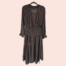 Antique 1915 Art Nouveau Sheer cotton Picnic Dress