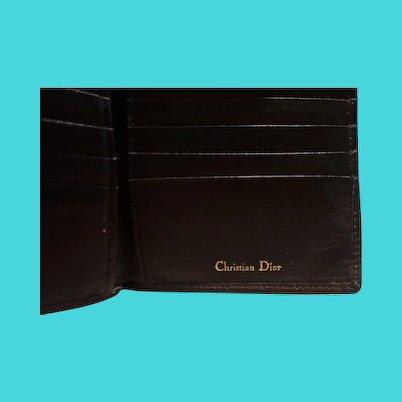 Vintage Mens Christian Dior leather Wallet