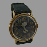Vintage Original Vintage Snoopy Playing Tennis Mechanical Watch wind up 1958 American Syndicate Peanuts