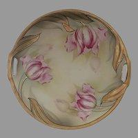 Antique 1912 Art Nouveau R&S Germany hand painted Plate