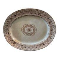 Rare ANTIQUE 19th Century signed Beatrice J.R..B Ironstone Platter