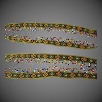 """Native American Indian beaded fringe  120"""" inches"""