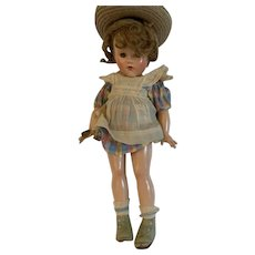 Vintage 1935 Effanbee Anne of Green Gables doll all original w/metal wrist tag