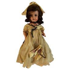 "Vintage 18"" composition 1930s all original Doll"