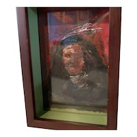 Original Oil Painting by Ronald Chee 1986 Navaho Indian