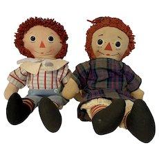 Vintage Knickerbocker Raggedy Ann and Andy DOLLS
