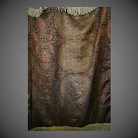 "Beautiful Tapestry 65"" throw w/ Fringe"
